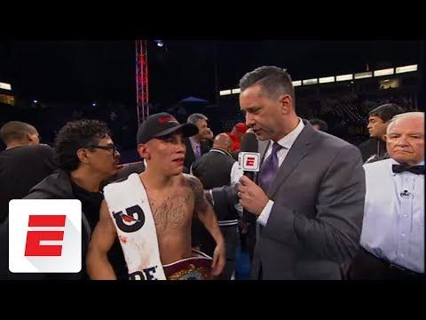 Oscar Valdez: 'I'm here to fight whoever, I'm the champion' | ESPN