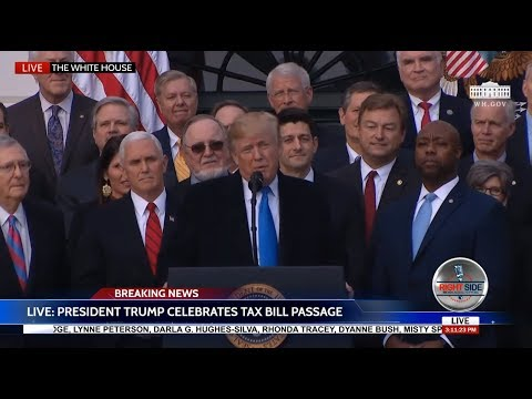 🚨 President Trump & GOP Full VICTORY Speech at White House After Tax Bill Passes 12/20/17