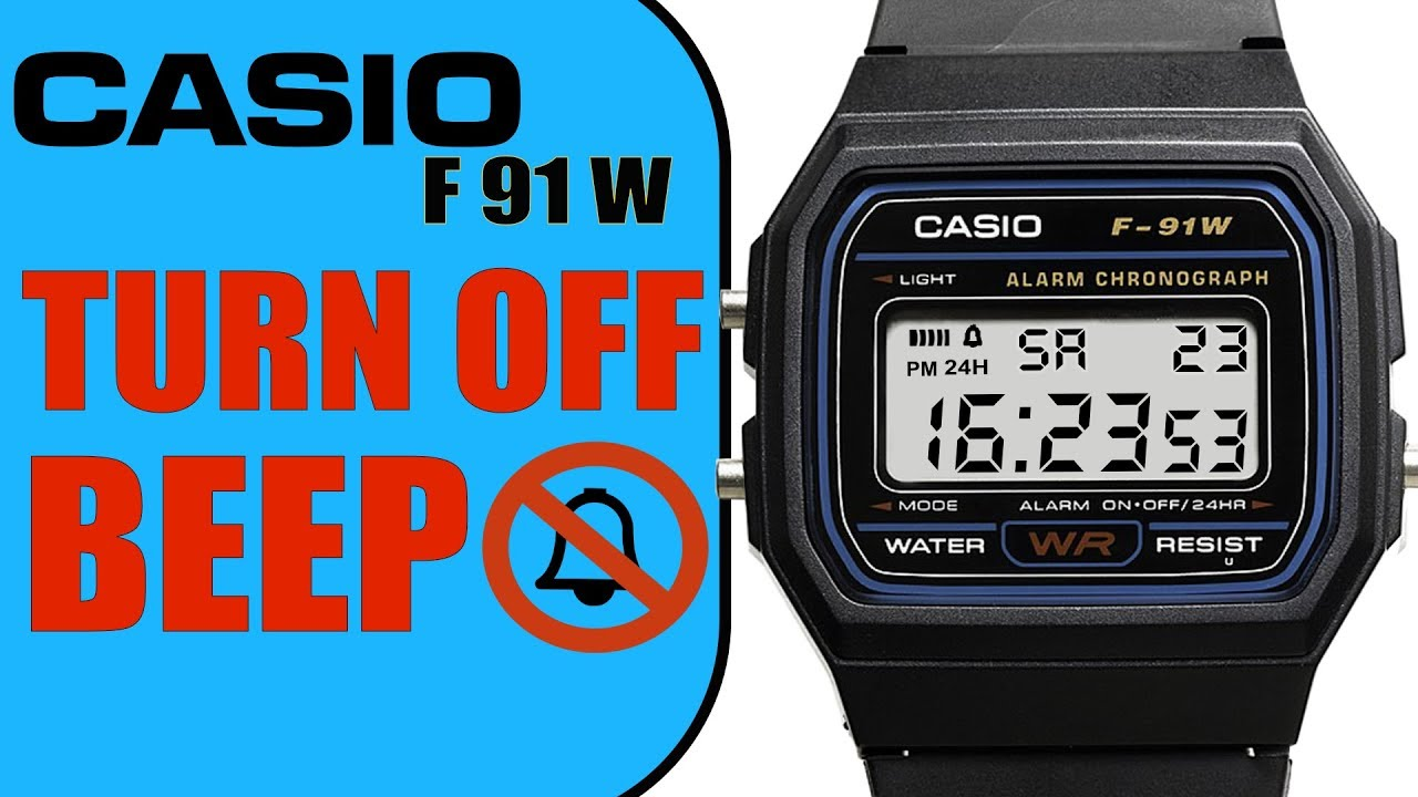 How To Turn Off Beep On Casio F91w In 4k 60 Seconds Tutorial Youtube Jam Tangan F 200w 1a
