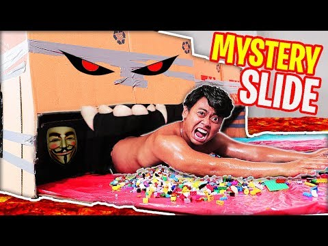 Try Not To WATER SLIDE Through The LEGO MYSTERY BOX!