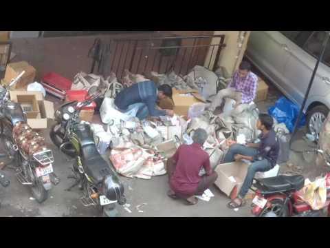 Medicines sorted on streets at Gadgil Street Sadashiv Peth