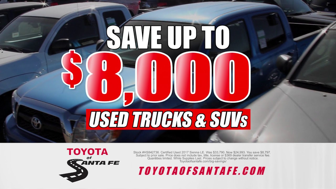 looking for a used car in november at toyota of santa fe new mexico toyota dealer youtube. Black Bedroom Furniture Sets. Home Design Ideas