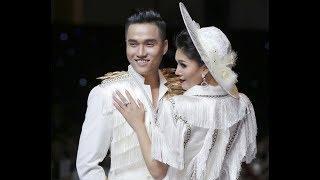 Clip hot: Á hậu Kim Nguyên quyến rũ catwalk bên bạn trai Hùng Trần