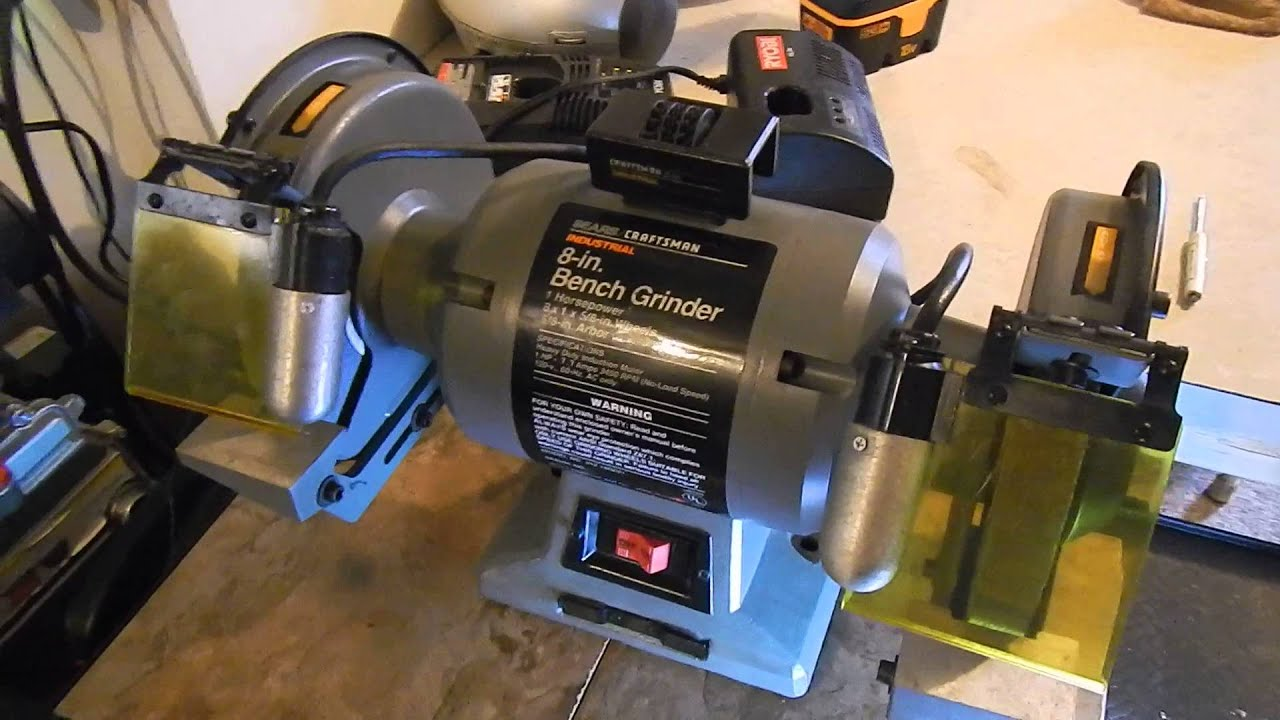 Picked Sears Craftman 1 Hp 8 Inch Power Grinder With Lights Youtube