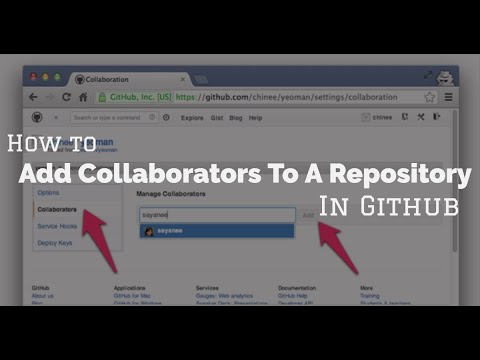 How To Add Collaborators To a Repository in Github
