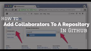 Video Github How To add collaborators to a repository download MP3, 3GP, MP4, WEBM, AVI, FLV September 2018