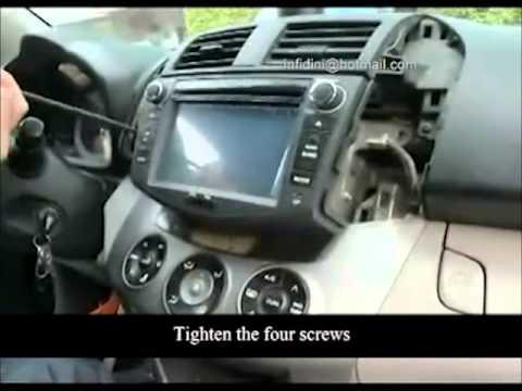 TOYOTA RAV4 How do you install navigation DVD RAV4 fitting instruction  YouTube