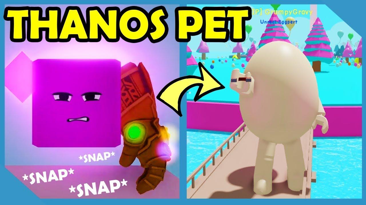 I Got The Legendary Thanos Pet In Roblox Egg Simulator Youtube