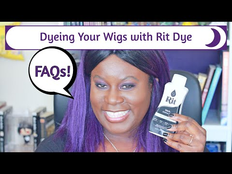 How To Dye A Synthetic Wig Using RIT Dye | Dyeing a Cosplay Wig | FAQ Video