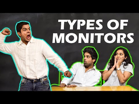 TYPES OF MONITORS in SCHOOL | The...