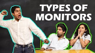 TYPES OF MONITORS in SCHOOL | The Half-Ticket S...