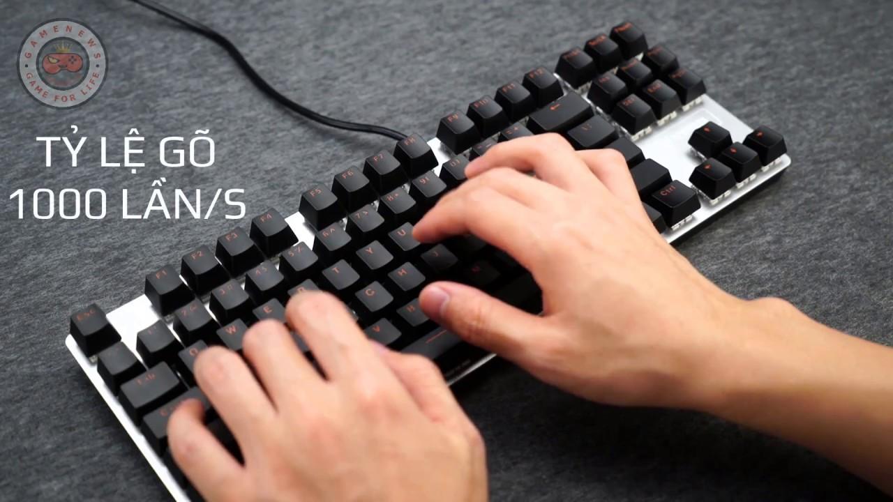 Bàn phím cơ Gaming Rapoo V500 phiên bản hợp kim Alloy hiện đại | LamGame.vn