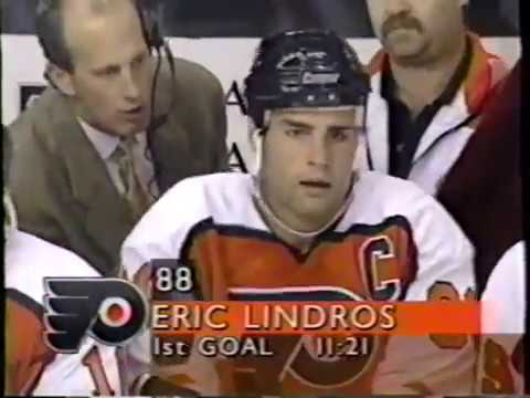 Philadelphia Flyers Lindros 4th NHL season Goals 1 2 3 4 5 6 Fight Modell