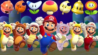 Super Mario 3D World - All Power-Ups (Gameplay Showcase)