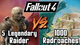 Legendary Raider vs 1000 Radroach Fallout 4 Battle Arena Battle Request