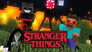 MONSTER SCHOOL : RIP ALL MONSTERS - STRANGER THINGS Minecraft Animation