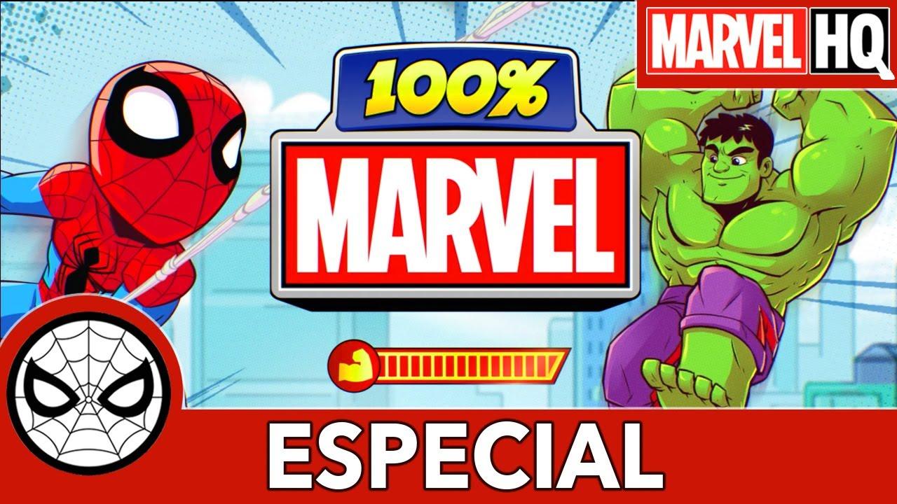 100% Marvel. Hulke e Homem-Aranha.