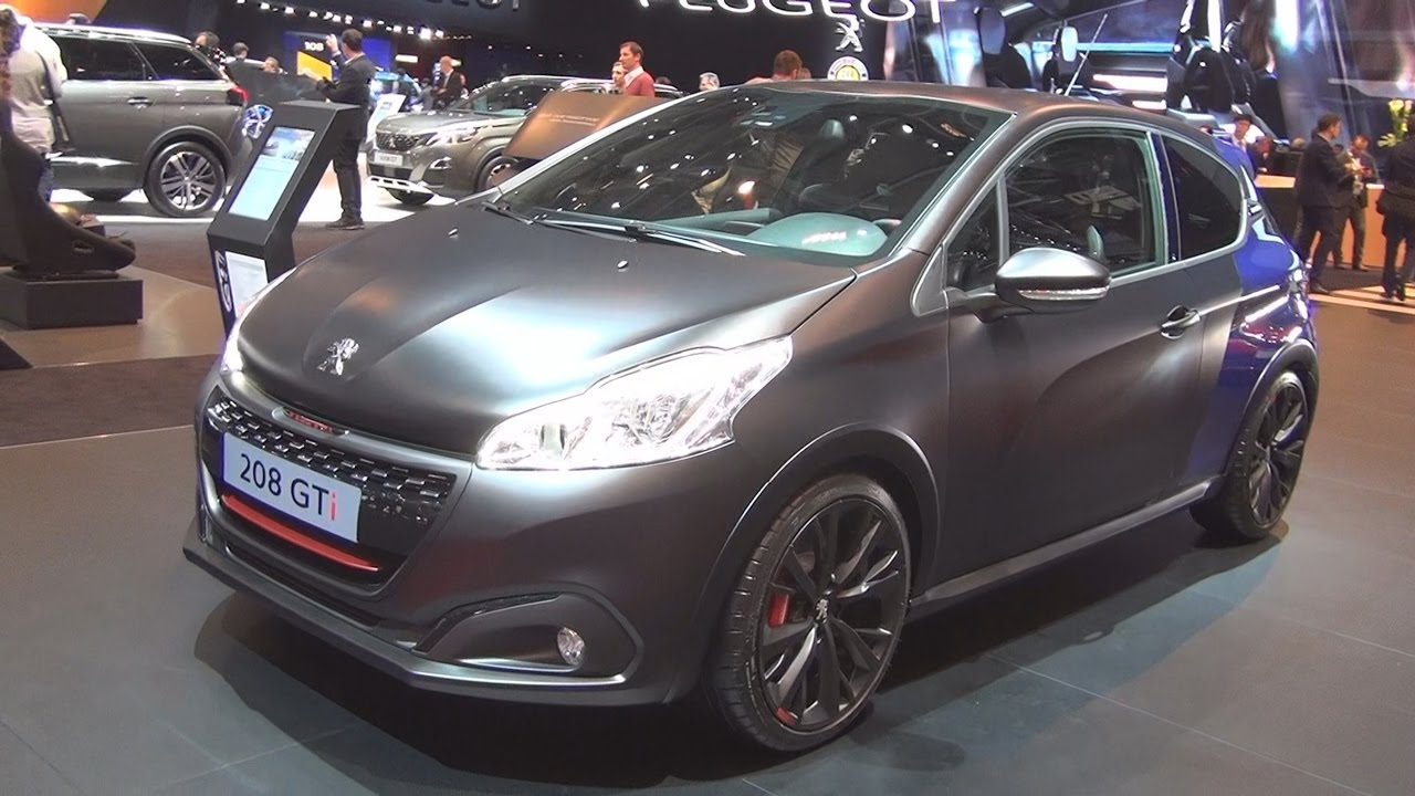 peugeot 208 gti thp 208 s s sport 2017 exterior and interior in 3d youtube. Black Bedroom Furniture Sets. Home Design Ideas