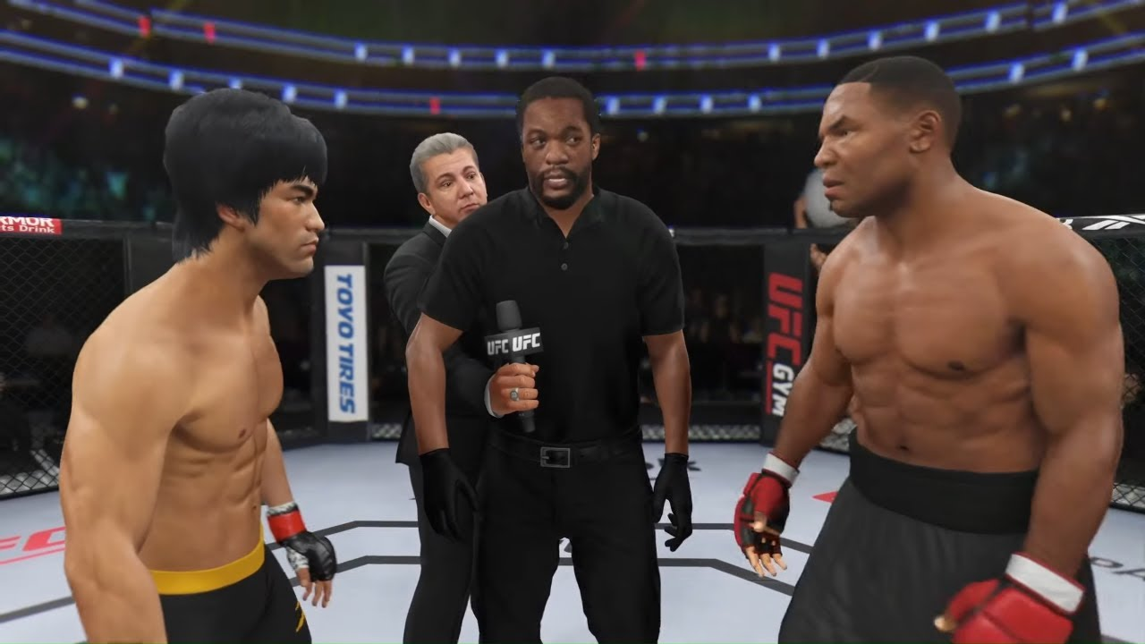 Download UFC 4 | Bruce Lee vs. Mike Tyson (Iron Mike) (EA sports UFC 4)