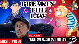 Breakin' the Law 🎵 Raptain Hook (DOING ILLEGAL STUFF ON CAMERA! FV Family Funny Vlog Music Video)