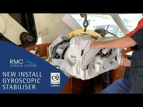 Gyroscopic Stabiliser Install: RMC Service - Riviera 41Flybridge