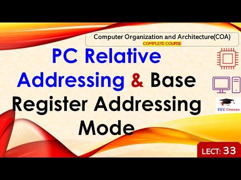 COA Lecture 33 compressed - PC Relative Addressing & Base Register Addressing Mode(Hindi)