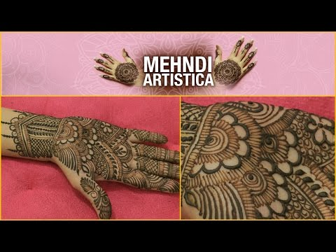 Easy Simple Traditional Henna Mehndi Art Creation|Indian Mehendi For Beginners|Step By Step Tutorial