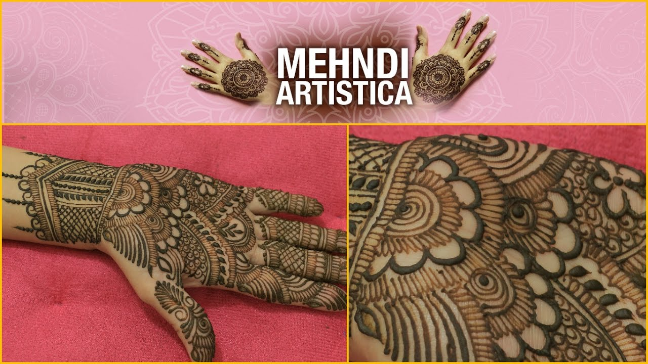 Easy Simple Traditional Henna Mehndi Art Creation Indian Mehendi For