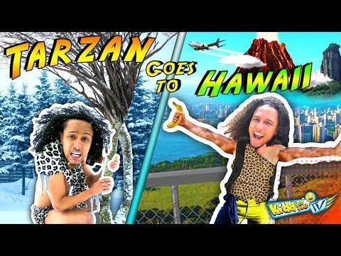 TARZAN goes to HAWAII! 1st time in Snow! || KIDD in Me TV