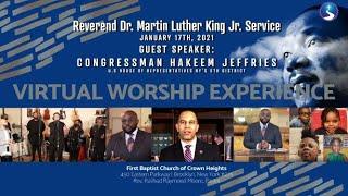 January 17th, 2021: Virtual Worship Service: MLK Celebration