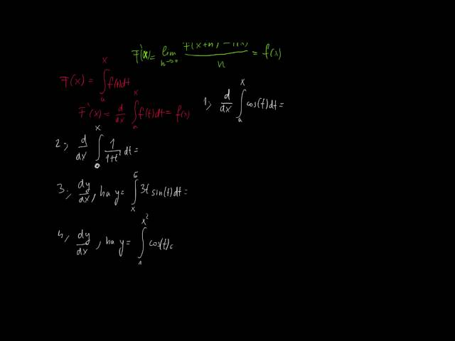 Newton-Leibniz-tétel (az analízis alaptétele) 2