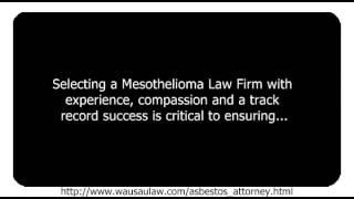 Wisconsin Mesothelioma Lawyer
