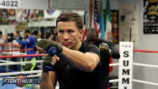Golovkin vs. Brook- Gennady Golovkin's Complete Weighted Shadow Boxing routine