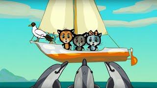 Обучающие и развивающие мультики для детей Три котёнка Новые песенки про животных