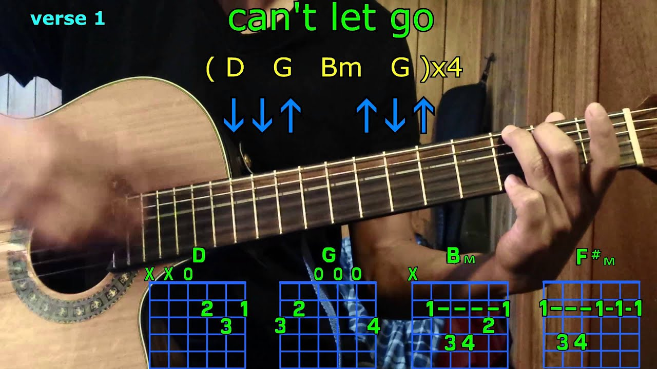 Cant Let Go Adele 25 Guitar Chords Youtube