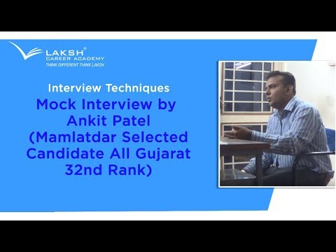 GPSC Class-1/2 Mock Interview By Ankit Patel