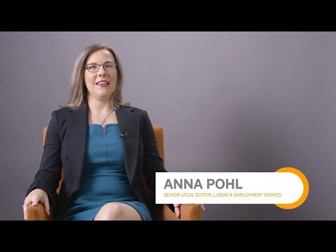 Connect with a Practical Law Editor:  Anna Pohl, Senior Legal Editor, Labor & Employment