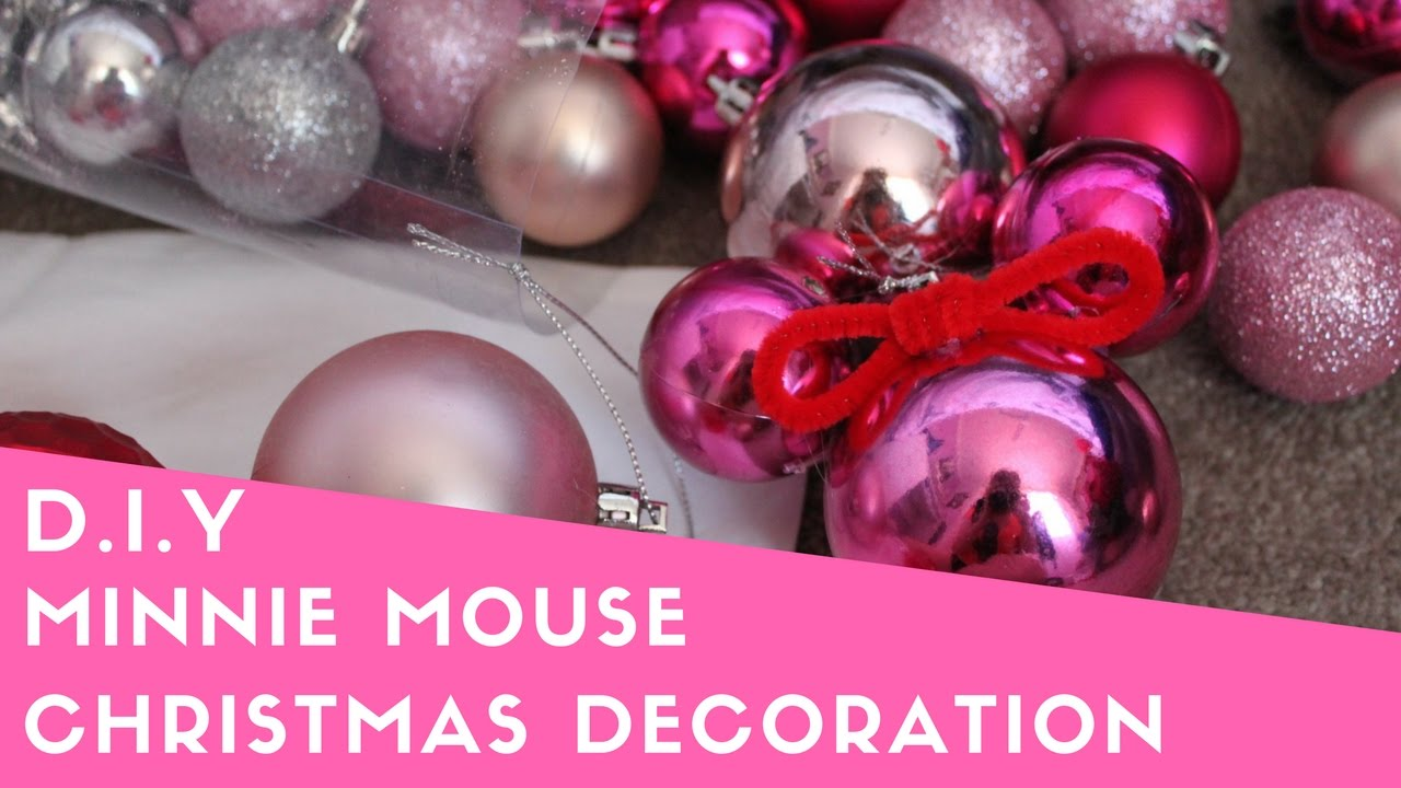 diy minnie mouse christmas decoration - Minnie Mouse Christmas Ornament