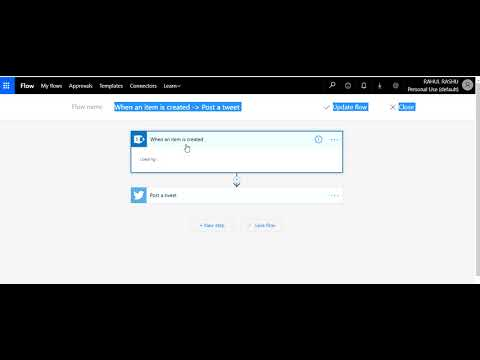 Automatically tweet from SharePoint to Twitter using Microsoft Flow
