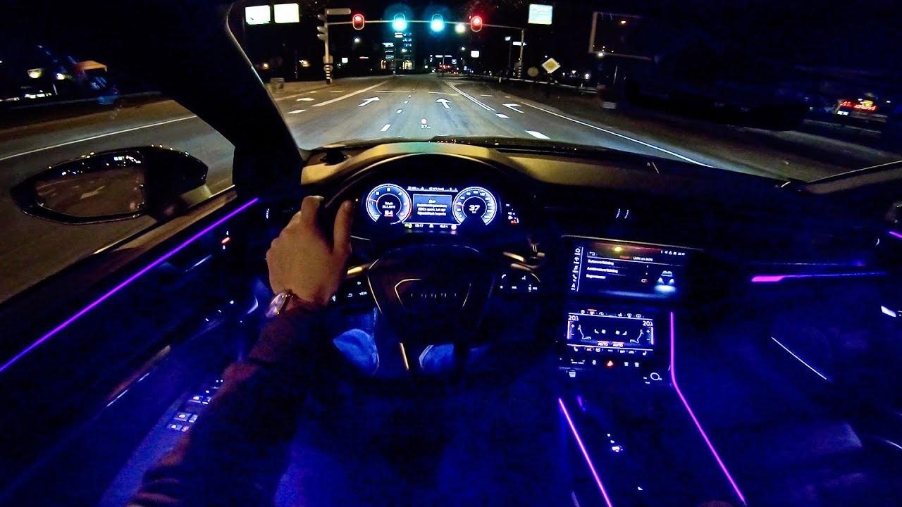 2019 AUDI A7 Sportback   NIGHT Drive POV   AMBIENT ...