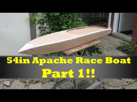 54in Rc Apache Race Boat Build Part 1 - YouTube