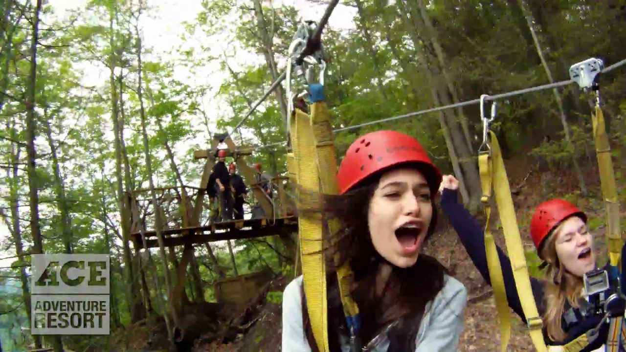 Ace Adventure Resort West Virginia Zip Line Canopy Tours Youtube