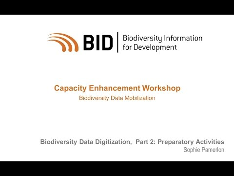 BID Workshop - Activity VI.01 Part 02 - Results of the Preparatory Activities