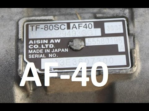 How to change oil in AF-40, TF-80SC gearbox Vectra Astra Zafira Alfa Romeo Mondeo
