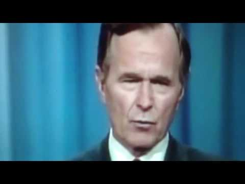 "George Bush ""Read my Lips"" (28 years Later) Donald Trump ""Drain the Swamp"" !!!"