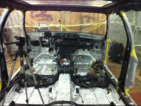 Сборка печки Mercedes W140