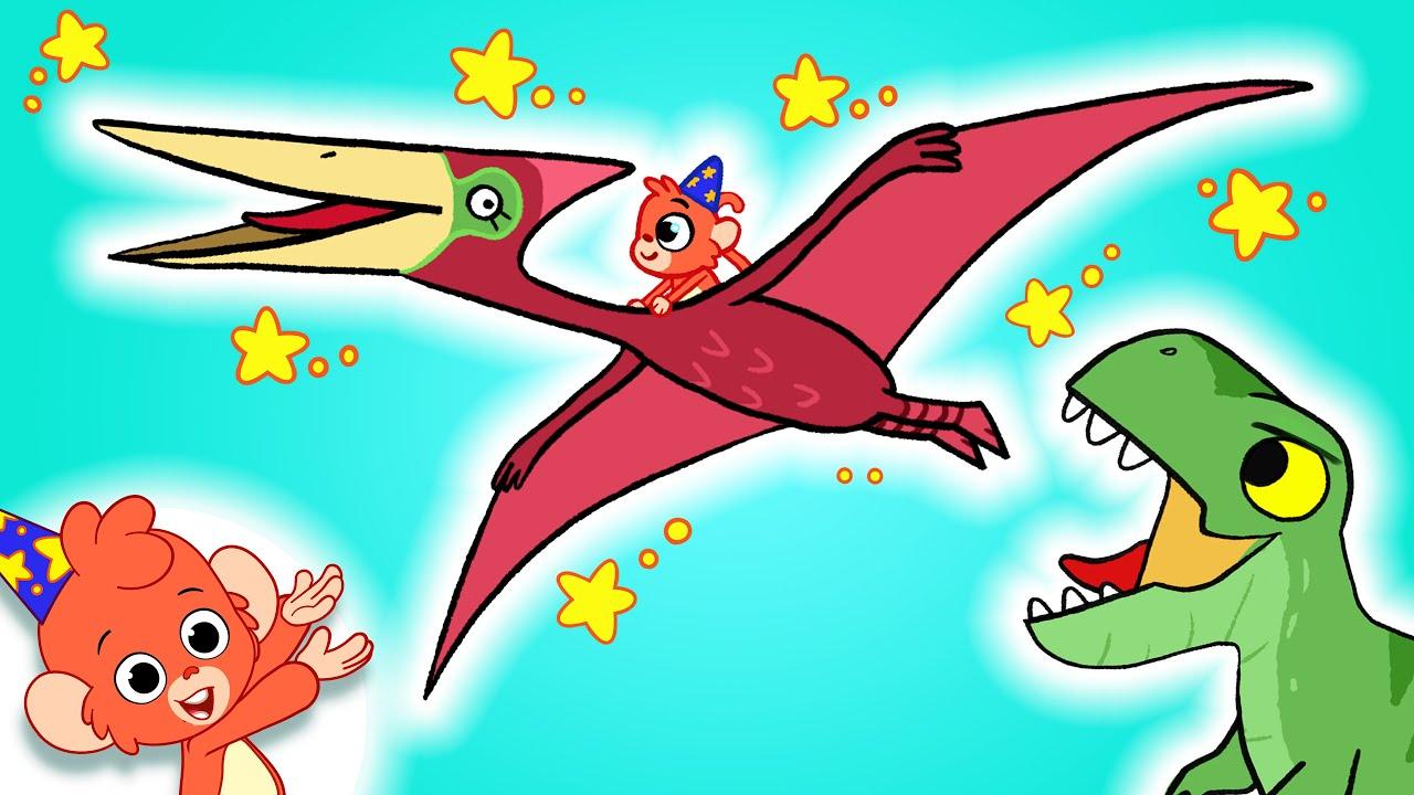 Learn Dinosaurs for Kids | T-Rex Triceratops Pterosaur Dinosaur Cartoon video  | Club Baboo