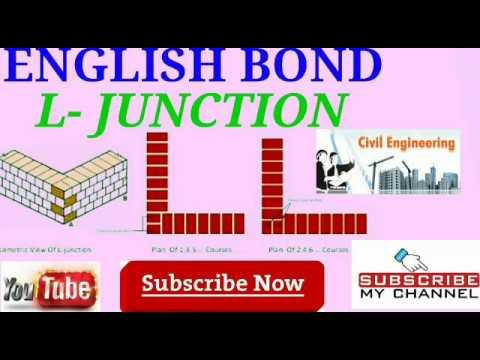 English Bond/ L- JUNCTION/ Building Drawing/ polytechnic Diploma/Civil  Engineering