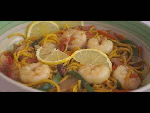 Paano magluto Canton Guisdo Recipe - Shrimp Noodle Prawn Tagalog Pinoy Filipino Cooking