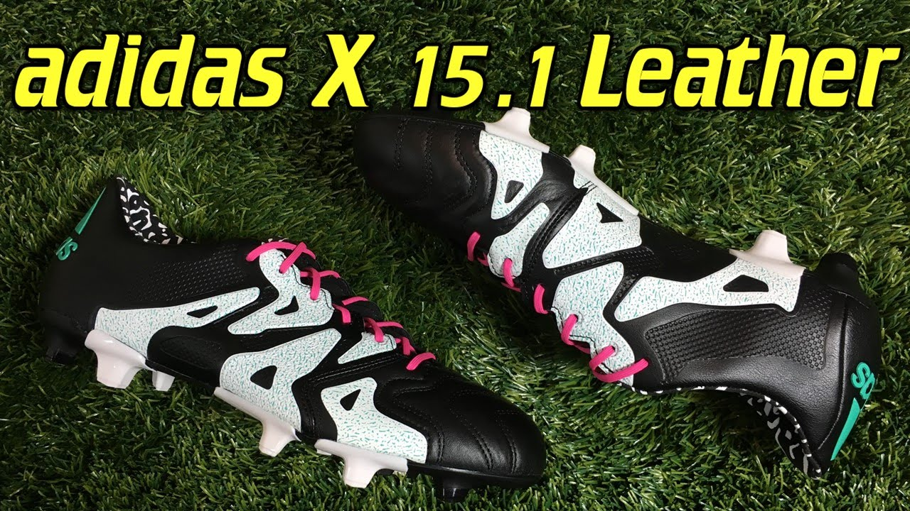 timeless design 63f67 ed4ac Adidas X15.1 K Black/Shock Mint/White - Review + On Feet